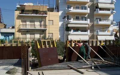 Από την Doka παραδόθηκαν στο εργοτάξιο συνολικά 105 τρέχοντα μέτρα ξυλοτύπου ύψους 1